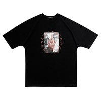 pamuk yarasa toptan satış-Kadın Erkek T-shirt Hiciv sinner dua kanye batı Hip Hop Yüksek Sokak Harajuku Boy Komik mutlu O-Boyun pamuk Kısa Tshirt