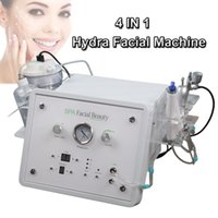 Wholesale microcurrent machine home resale online - Portable multifunction microdermabrasion hydra facial machine home oxygen therapy diamond microcurrent facial equipment with handles
