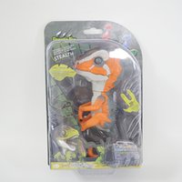 Wholesale New Electronic Smart Touch Dinosaur Interactive Finger Toys Ferocious Raptor Roar Chomping Fingertip Dino Collectible Baby Dinosaur Toy Gift