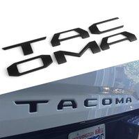 ingrosso auto decalcomania nera-Nero opaco e argento lettere heavy duty per Tacoma 2016-2020 portellone sollevato 3D adesivi auto decalcomania Car Styling