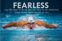 arte da parede do painel da dança venda por atacado-Michael Phelps motivacionais citações dos esportes Arte quadro de parede Posters e tecido de seda de impressão para casa Decor