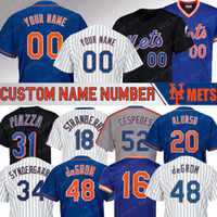 Wholesale darryl strawberry for sale - Group buy New York Custom Mets jersey Pete Alonso jerseys Jacob DeGrom Mike Piazza Michael Conforto Darryl Strawberry Syndergaard