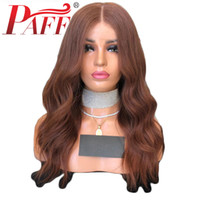 Wholesale human hair lace wigs 33 for sale - Group buy PAFF Natural Wave Glueless Full Lace Human Hair Wigs Color Brazilian Remy Hair Full Lace Wigs Bleached Knots With Baby Hair