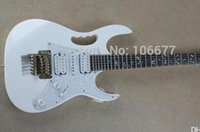 Wholesale white guitar for sale resale online - Hot Sale Quality Accessories from Korea Pickup Floyd Rose White Electric Guitar