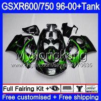 обтекатели для 99 gsxr оптовых-Кузов + бак для SUZUKI SRAD GSXR 750 600 GSXR600 96 97 98 99 00 291HM.3 gsxr-600 Green flames stock GSXR750 1996 1997 1998 1999 2000 обтекатели