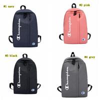 okul için kumaş sırt çantaları toptan satış-Mektup Sırt Çantası Renk Eşleştirme Oxford Kumaş Omuz Çantaları Sırt Çantası Trendy Öğrencileri Okul Çantası Spor Seyahat Depolama Sırt Çantası MMA1782