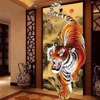 zen gemälde großhandel-Großhandel 5D Diamant Malerei Sibirien Tiger Diamant Stickerei Kristalle Diamant Mosaik Bild Kreuzstich Kits Dekoration