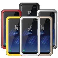ingrosso galassia s4 per telefoni cellulari-Caso telefono in alluminio Heavy Duty Protezione armatura di metallo per Samsung Galaxy S9 S8 Inoltre S4 S5 S6 S7 bordo Nota 8 5 4 antiurto copertina MX191024
