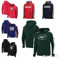 fleece gefüttert pullover hoodie großhandel-San Francisco 49ers Diego Ladegeräte Raiders Oakland Jets New York Giants Pro Linie von Fanatics Branded Iconic Pullover Hoodie