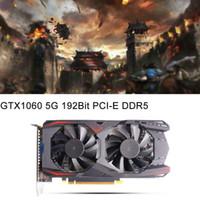 tarjeta gráfica nvidia ddr5 al por mayor-Nuevos Gráficos NVIDIA GTX1060 Tarjeta Tarjeta Video 5G Gráficos Juegos DDR5