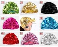 ingrosso beanie per bambini-INS Baby Gold Hat Bunny Ear Caps Stile europeo Turbante Nodo Testa Doratura Avvolge Cappelli 8Colori timbro oro India Cappelli Berretto invernale per bambini