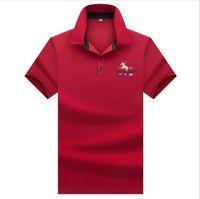 gelbes poloshirt schlank großhandel-Ashoin Polo Homme 2019 Sommer Marke Kurzarm Polo Shirt Männer Kausal Slim Fit Einfarbig Tasche Camisa Polo Männer Gelb XXXL