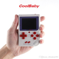 Wholesale games console cooling resale online - CoolBaby Mini Handheld Game Console Cool Baby RS Portable Retro Mini Games Consoles Inch Screen For FC Game Kids Birthday Gift
