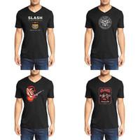 küresel sanat toptan satış-Slash globalMen's V Yaka koton temel modeller kuru ileri T-shirt global GOP Komplocüler Dünya Guns N Roses Dijital Sanat Slash on