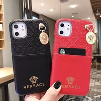Wholesale phone cas for sale – best Luxury Designer phone Cases For iphone xs max case leather PU Leather slot card case Brand phone cover For iphone11 pro max XR XR plus Cas
