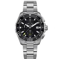 стальные часы оптовых-роскошные мужские часы япония vk64 кварцевый механизм классический стиль полный корпус из нержавеющей стали часы 5ATM водонепроницаемый супер светящийся montre de luxe