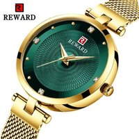 Wholesale solar luxury watch resale online - REWARD Luxury Women Watch Net Red Fashion Watch M High Quality Blue Mesh Band Women s Watch