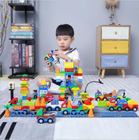 Wholesale block cars resale online - Building Blocks Plastic Digital Box digital train car building blocks kids toys Children s Educational Intelligence Safe Environmental