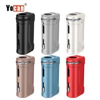 vape oled al por mayor-Auténtica batería Yocan Uni Pro Box Mod con pantalla OLED 650mAh Preheat VV Vape Box 100% Original