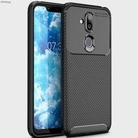 Wholesale carbon fiber bumpers for sale - Group buy Fitted Cases BYHeYang TPU Case x7 Soft Silicone Bumper Brushed Carbon Fiber Texture Case for Nokia