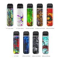 велюровые перья оптовых-Оригинальная электронная сигарета SMOK Novo 2 Pod Kit Встроенная батарея 800 мАч 2 мл Vape Pod картриджи с улучшенным светодиодным индикатором 100% Smok Vape Pen