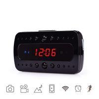 cámaras de grabación activadas por movimiento al por mayor-Cámara inalámbrica P2P Wifi Cámara Reloj HD 1080P Grabación de video activada por movimiento Grabación IR Visión nocturna Cámara de seguridad Soporte ios o android
