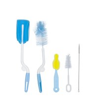 Wholesale scrubs sets resale online - 5pcs set Baby Bottle Brush Nipple Brush degree Rotating Head Cleaning Scrubbing Washing Sponge Cup Brush Kit Cup Cleaner