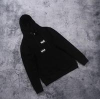 hoodie trend moda toptan satış-Erkek tasarımcı hoodie Moda suprême marka baskı kapüşonlu kazak Rahat vahşi eğilim lüks hoodies Pamuk en kaliteli Fabrika doğrudan satış