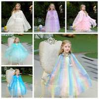 Wholesale holiday party clothes resale online - 6styles Polka Dots Glittering Cape Girl Pricess Cape Kids Cosplay Clothes Costumes Clothes girl kid Stage Performance party Cloak FF2170