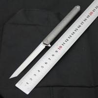 Wholesale pen knives resale online - Divine pen flip blade D2 blade TC4 titanium handle folding knife outdoor camping survival bag fruit knife EDC tool