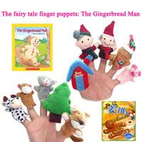 характер чучела животных оптовых-40 конструкций рождественские пальцы Куклы Плюшевые игрушки Санта-Клаус куклы Чучела рождественские символы семьи Пальцы Наборы Родитель-ребенок игрушки