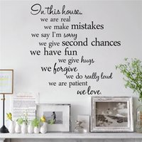 Wholesale 3d wall words sticker for sale - Group buy In this house we are real Home Decal Family Vinyl Wall Sticker Quotes Lettering Words Living Room Backdrop Decorative