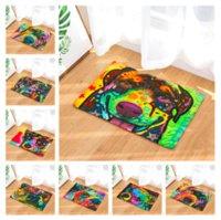 teppichbodenmatten für autos großhandel-Aquarell Hund Welpen Fußmatte Bad Küche Teppich Dekorative Anti-Slip Mats Zimmer Auto Boden Bar Teppiche Tür Wohnkultur Geschenk