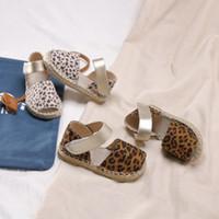 Wholesale leather leopard sandals for sale - Kids sandals girls leopard grain outdoor casual sandals children breathable non slip beach shoes summer fashion kids shoes F7323