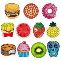 früchte wand kunst großhandel-Ananas Donut Pizza Obst Wandteppich Picknick Matte Strand Decke Home Wall Art Decke Picknick Dekor für Sommer Strand liefert