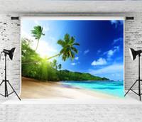 rüya gören deniz toptan satış-Rüya 7x5ft (220x150 cm) Hawaii Deniz Plaj Fotoğraf Backdrop Tropikal Yaz Arka Plan Mavi Gökyüzü Fotoğraf Çekimi Arka Planında Stüdyo Prop