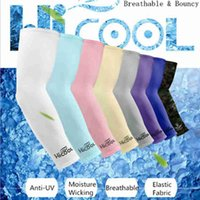 Wholesale sleeves for arms resale online - Cooling Arm Sleeves Cover UV Sun Protection Breathe For Climbing Golf Cycling Outdoor Sports Safety Arm Warmers ZZA2323 Ocean Shipping