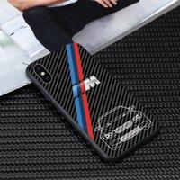 mini tpu kasası gönderimi toptan satış-Ücretsiz Kargo lüks tpu cam bmw M serisi Telefon Kılıfı için iphone X XR XS Max 7 6 6 S 8 artı kılıfları