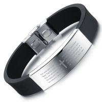 pulseira de zíper de plástico venda por atacado-Nova moda coreana pulseira de sílica gel de aço inoxidável personalidade lustrosa tendência pulseira acessórios para enviar namorado presente