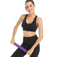 équipement de massage achat en gros de-De haute qualité Yoga Massage Stick Gear Body Massager Roller Muscle Soulager Les Douleurs Musculaires Crampes Fascia Détente Minceur Outil