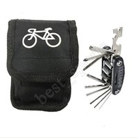 Wholesale bike tool kit set resale online - Mountain Bike Tire Repair Tool in Kit Cycling Multifunctional Portable Mechanic Fix Tools Set Bag Separate package and tool LJJZ57