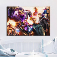 Wholesale hd landscape painting images for sale - Group buy Avengers Endgame Nordic Canvas Painting HD Wall Picture Poster And Print Decorative posters image Home Decor