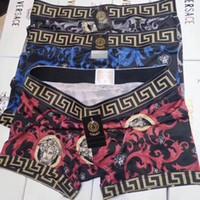 ingrosso disegno della biancheria intima per gli uomini-BoxerXXL intimo uomo famoso al 100%Pantaloncini con slip Versace per uomo Design vintage Cuecas Cotton Adult 365 colori Boxer Man Penis Underpan