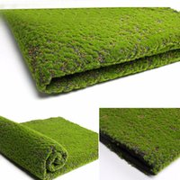 Wholesale grass for wall decoration resale online - Artificial Moss Fake Green Plants Faux Moss Grass For Shop Home Patio Decoration Garden Wall Living Room Decor Supplies100 cm