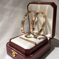 orjinal marka toptan satış-Lüks tasarımcı takı bayan bilezikler mens aşk charm bilezik braccialetto di lusso sepeti marka bileklik Pulseira de luxo orjinal kutusu