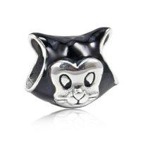 perlen silber armband armband großhandel-Authentische 925 Sterling Silber Perlen DIY Zubehör für Pandora Armbänder Geschenk Die neue Emaille Weihnachten Fliege berloque