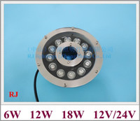 Wholesale rgb led ac12v ip68 for sale - Group buy LED underwater light swimming pool light fountain light new style under water lamp W W W W IP68 AC12V input