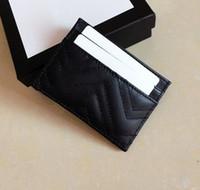 portefeuilles minces pour les femmes achat en gros de-Les hommes de qualité classique détenteurs occasionnels de carte de crédit en cuir de vachette Ultra Slim Wallet Sac paquet pour femmes Mans W10 * h7