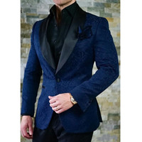 Wholesale clothes images for sale - New Wedding Groom Tuxedos Two Piece Herringbone Black Shawl Lapel Man Suits Blazer Pants Tailor Made Jacket Male Clothing
