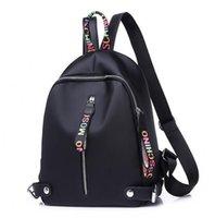 bayanlar kumaş çanta toptan satış-Yeni Moda tasarımcısı sırt çantası Kadın Sırt Çantaları Genç Kızlar Için Çift Fermuar Ile Oxford Kumaş Meslektaş Çantalar Bayanlar Seyahat Sırt Çantası